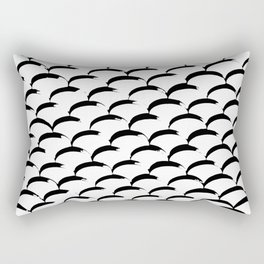 Inked Fish Scales Rectangular Pillow