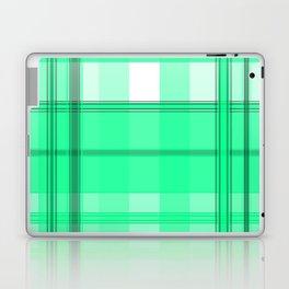 Shades of Light Green and Gray Plaid Laptop & iPad Skin