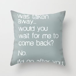 If One Day... Throw Pillow