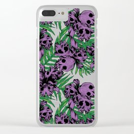 Orchid Skulls Clear iPhone Case
