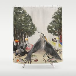 Last Bird Supper Shower Curtain