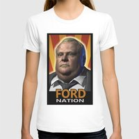 ford T-shirts featuring Ford Nation by RadiationLeak