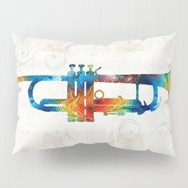 Colorful Trumpet Art Color Fusion By Sharon Cummings Pillow Sham