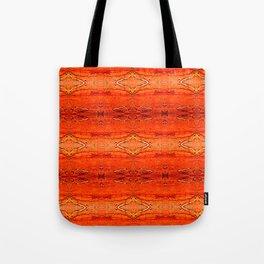 Orange Aztec Pattern 2 Tote Bag