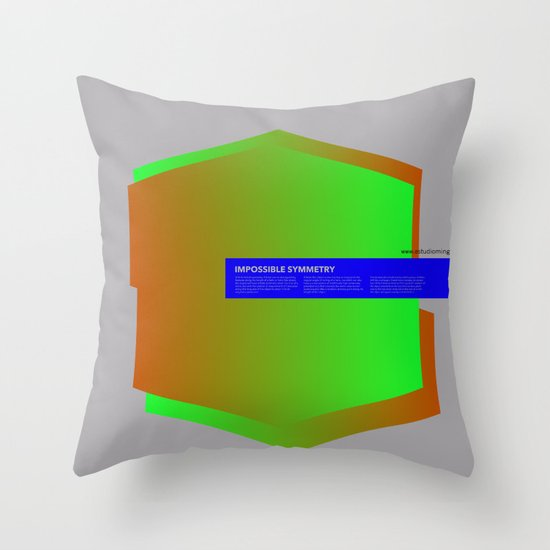 Impossible Symmetry - Ex Throw Pillow