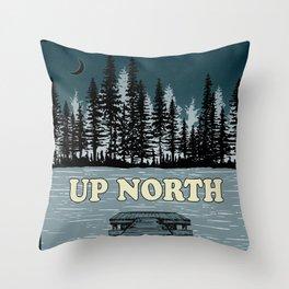 Up North at Night Throw Pillow