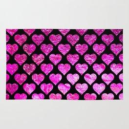 Pink Foil Hearts Rug