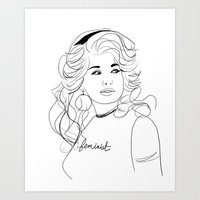 Feminist Dolly Art Print