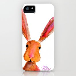 Happy Hare ' LoLLiPoP ' by Shirley MacArthur iPhone Case