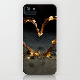 Cool heart shape made from Lighting iPhone Case