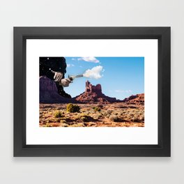 The Gods Must be Crazy Framed Art Print