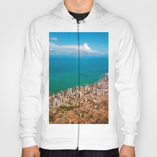 Sky, sea and buildings Hoody