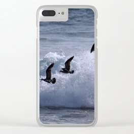 Sea Birds Clear iPhone Case