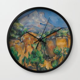 The Montagne Sainte-Victoire seen from the Bibémus quarry Wall Clock