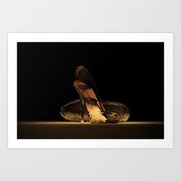 Cinderella's High Heels Art Print
