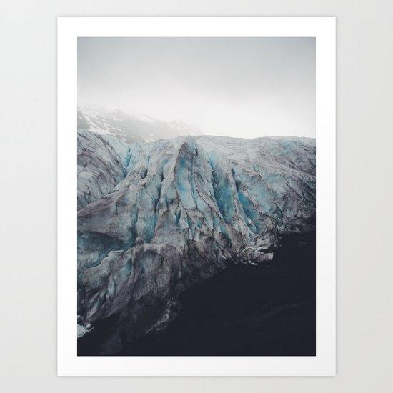 Exit Glacier Art Print