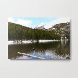 Snow At Bear Lake - Rocky Mountains NP Metal Print