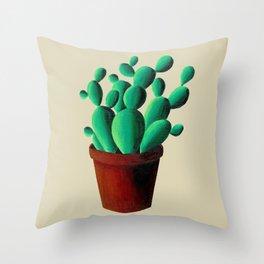 Cactus Pot Throw Pillow