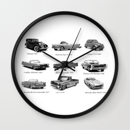Classic Car Collection Wall Clock