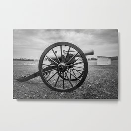 Monocacy National Battlefield Civil War Cannon Black and White Photography National Park Maryland Metal Print
