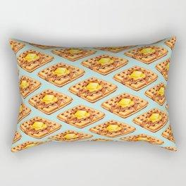 Waffle Pattern Rectangular Pillow