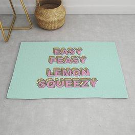 Easy Peasy Lemon Squeezy Rug
