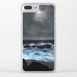 Moonlit Shoals Clear iPhone Case
