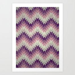 Chevron pattern_Pink Art Print