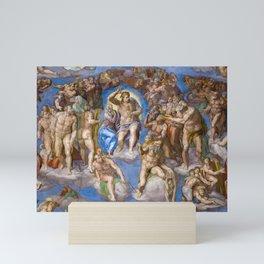 Jesus's Second Coming, The Last Judgment, Sistine Chapel by Michelangelo Mini Art Print