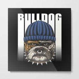 Bulldog Design Metal Print