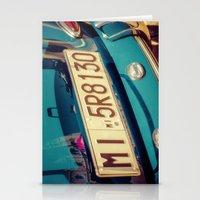 porsche Stationery Cards featuring Porsche by Sébastien BOUVIER