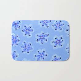 Blue Emily Rose Bath Mat