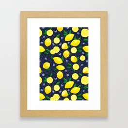 Lemon Blueberry Tart Framed Art Print