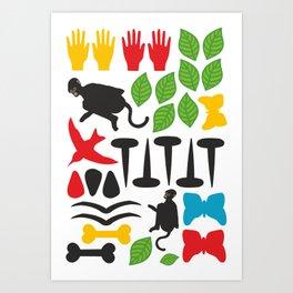Frida Cutout Pattern Art Print