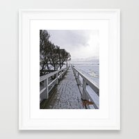 finland Framed Art Prints featuring Frozen Finland by Chema G. Baena Art