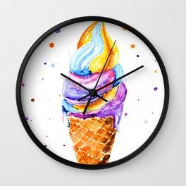 ice cream. Wall Clock