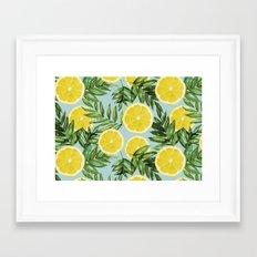 Lemon Print Framed Art Print