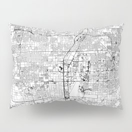 Las Vegas White Map Pillow Sham