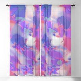 swirl of birds, abstract 1.2 Sheer Curtain