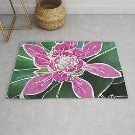 Batik Rhododendron Rug