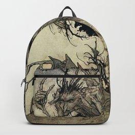 """Calling Shapes"" by Arthur Rackham Backpack"