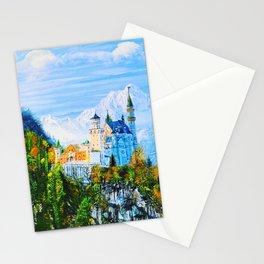 laportrayal Neuschwanstein Castle Handmade Oil Painting Customisation s Stationery Cards