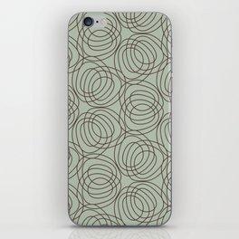 geo six circles-walnut on celadon iPhone Skin