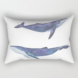 Three big space whales illustration Rectangular Pillow