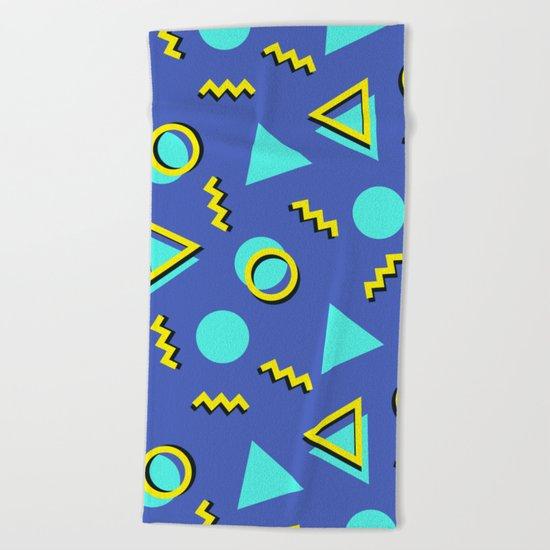 Memphis pattern 63 Beach Towel