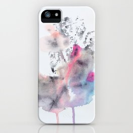 Colorful Rorschach Leaf Stamp iPhone Case