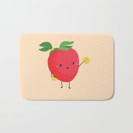 Strawberry cheers Bath Mat