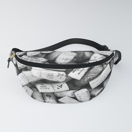 Something Nostalgic II Twist-off Wine Corks in Black And White #decor #society6 #buyart Fanny Pack