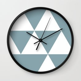 Life in Triangles Wall Clock