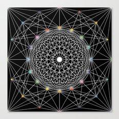 Geometric Circle Black/White/Colour Canvas Print